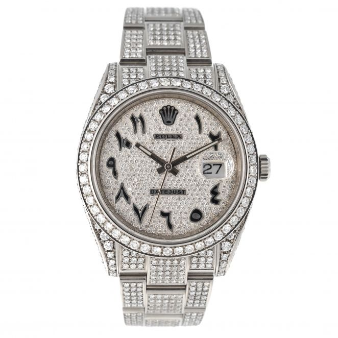 Datejust 41 Stahl Iced Out