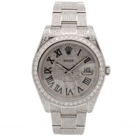 "Datejust 2 Stahl ""Iced Out"""