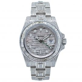 """GMT-Master II Stahl """"Iced Out"""""""