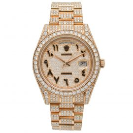 """Day-Date II Rosegold """"Iced Out"""""""