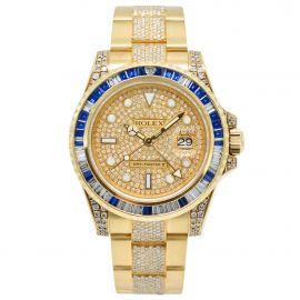 """GMT-Master II Gelbgold """"Iced Out"""""""