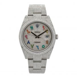 """Datejust 41 Stahl""""Iced Out"""""""
