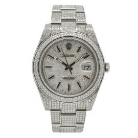 """Datejust 2 Stahl""""Iced Out"""""""