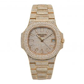 """Nautilus Rosegold """"Iced Out"""""""