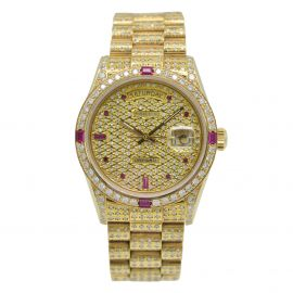 """Day-Date Gelbgold """"Iced Out"""""""