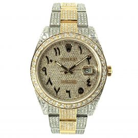 Datejust 41 Stahl/Gelbgold Iced Out