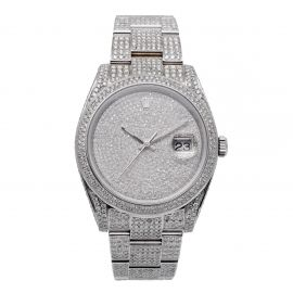 """Datejust 41 Stahl """"Iced Out"""""""