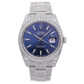 Datejust 41 Iced Out Stahl