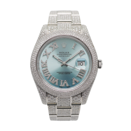 Datejust 2 Iced Out Stahl