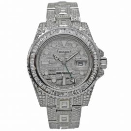 GMT-Master II Stahl Iced Out
